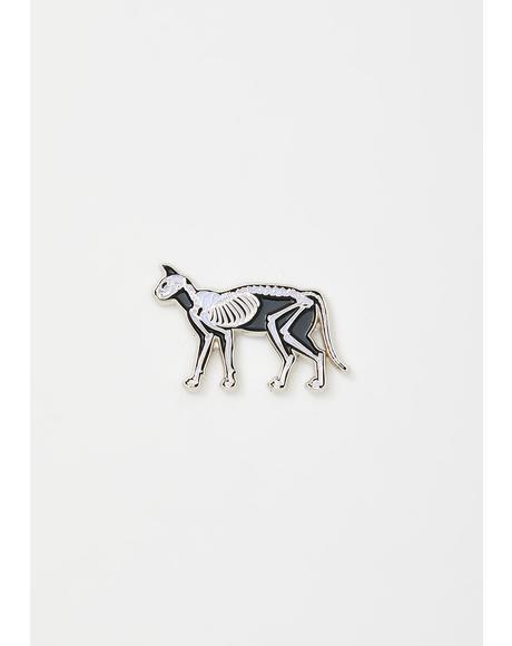 Silver Lola Enamel Pin