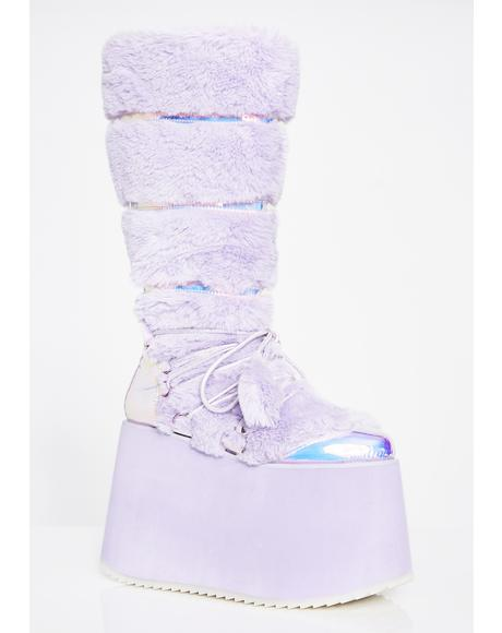 Glamtopia Galaxy Platform Boots