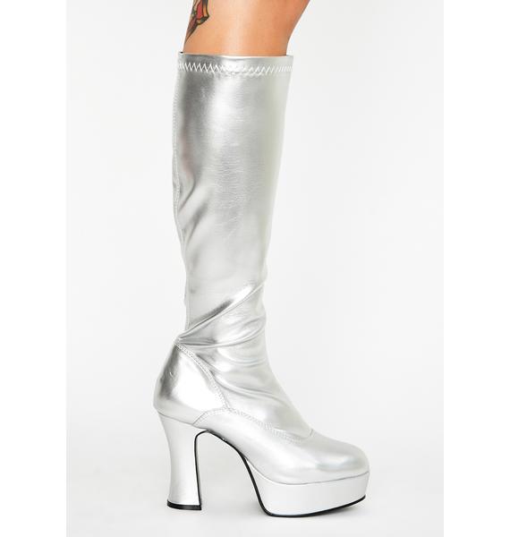 Funtasma Chrome She's Scary Sexxxy Patent Boots