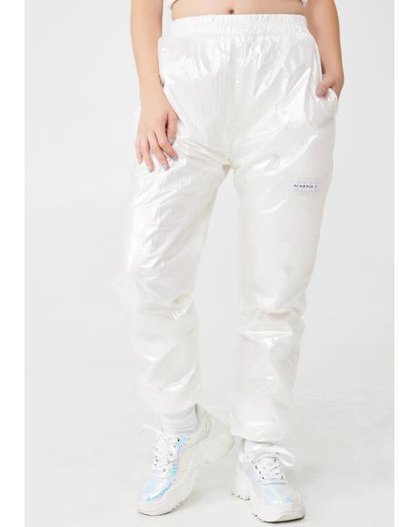 Icy Metallic Sweatpants
