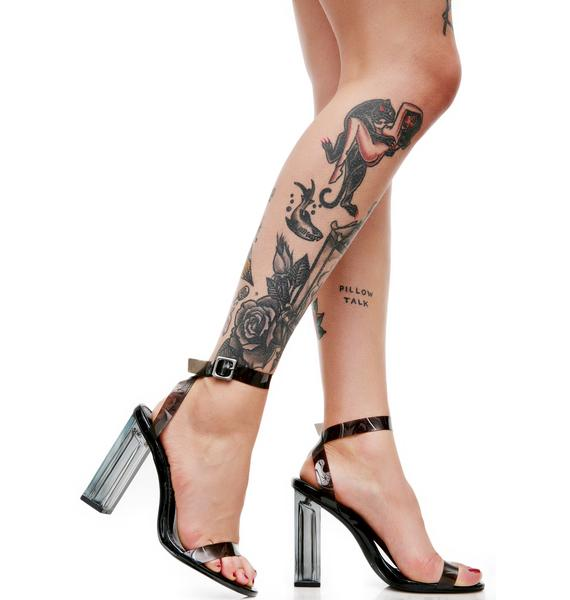 Smoke Venus Lucite Heels