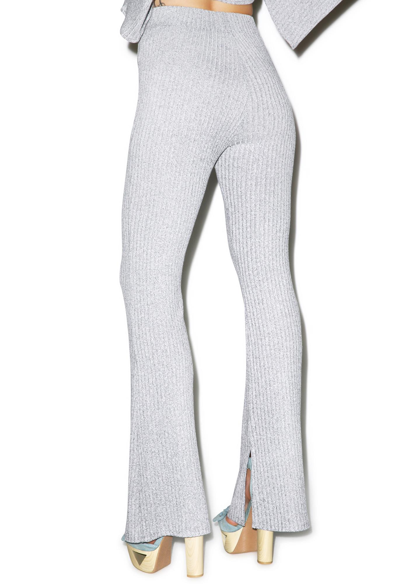 Lavish Alice Knit Split Flares