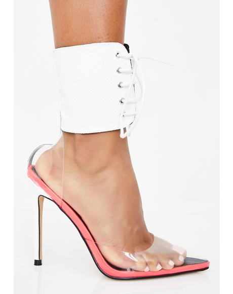 Pearl Play To Slay Lace Up Heels