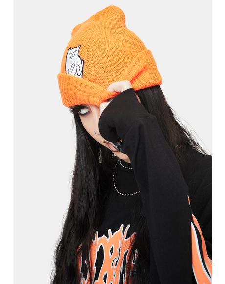 Orange Lord Nermal Beanie