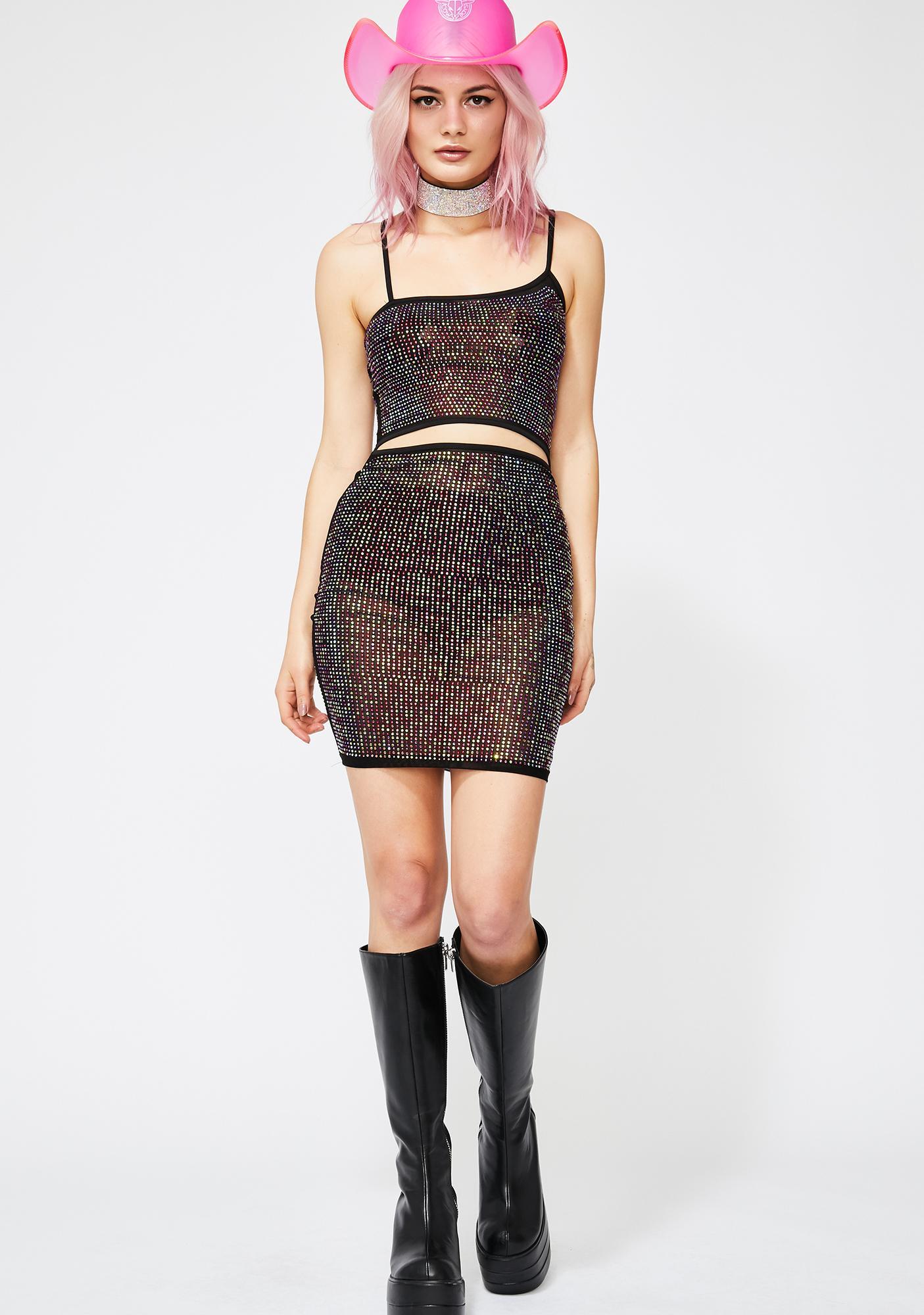 Glam Galaxy Rhinestone Dress