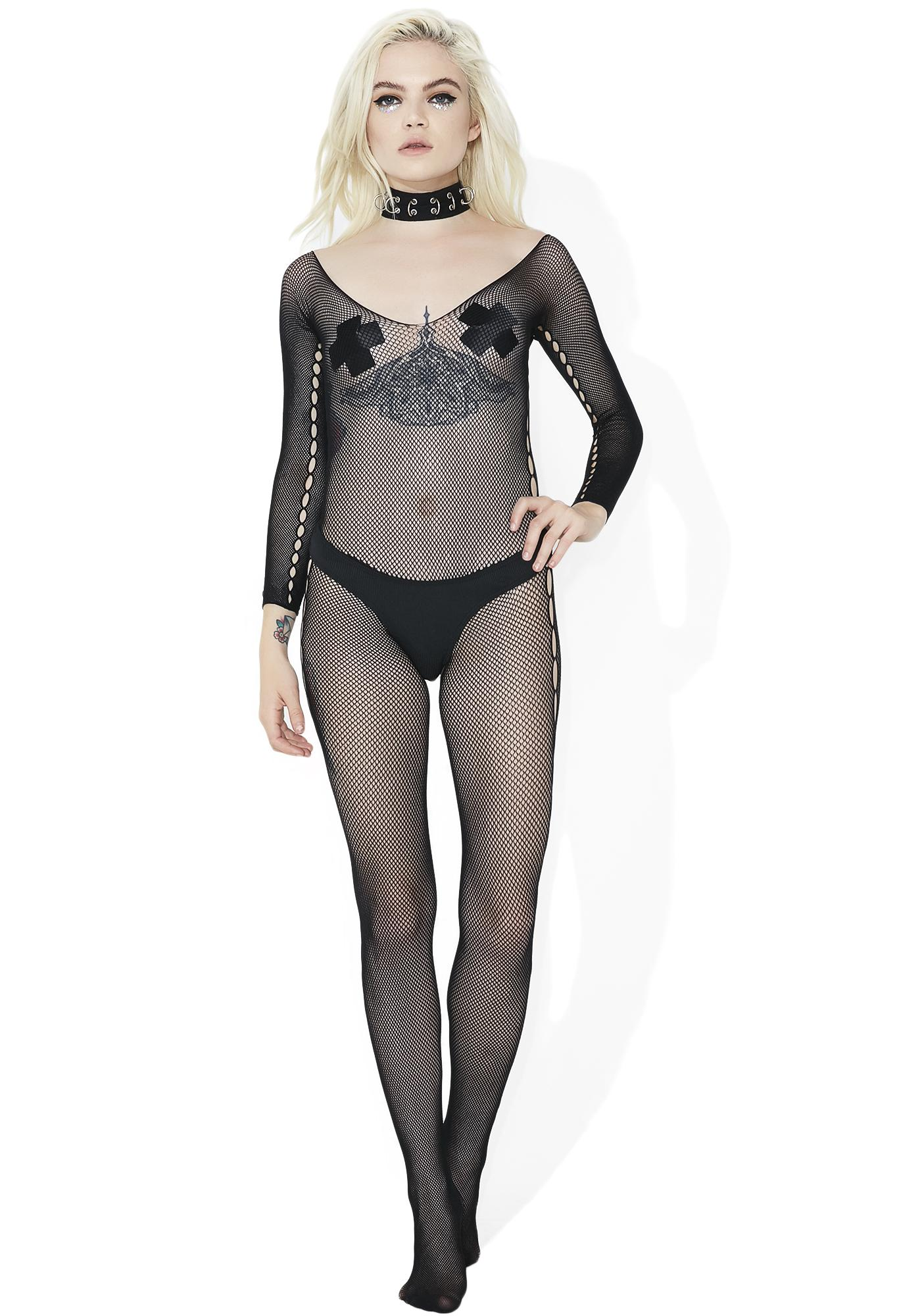 Hauty The Big O Fishnet Bodystocking
