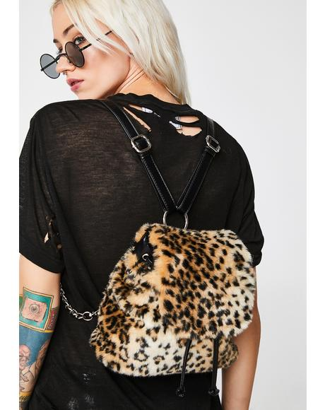 Rebel Kitty Leopard Backpack