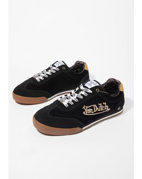 Black Vanderdutch Velvet Sneakers