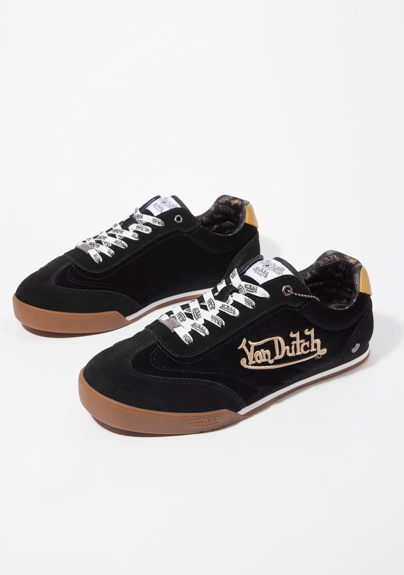 Von Dutch Black Vanderdutch Velvet Sneakers