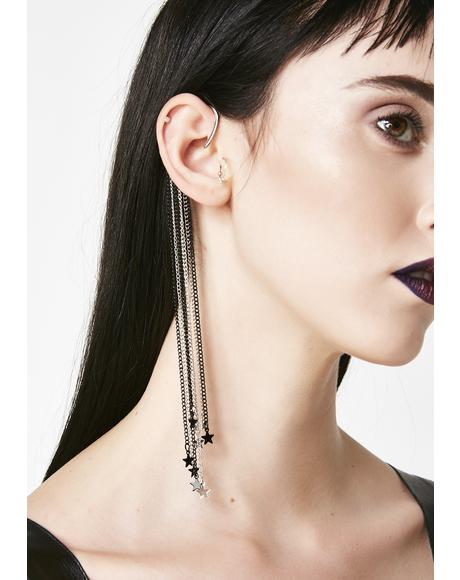 Shooting Stars Ear Cuff