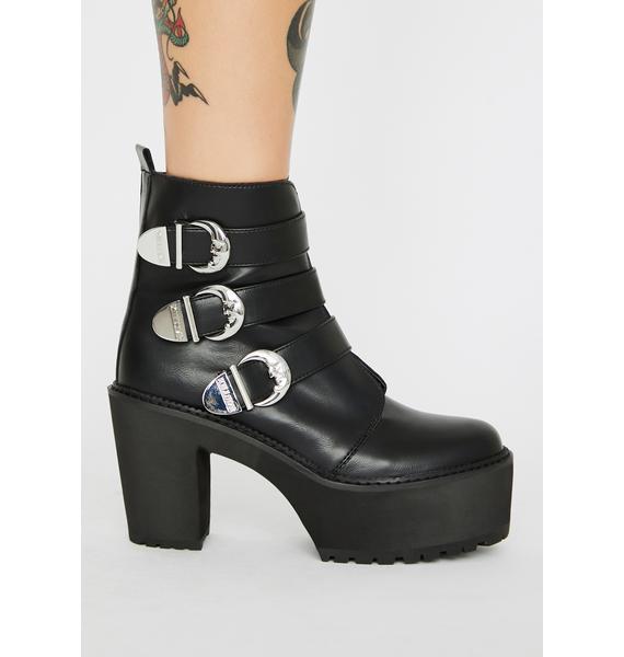 Killstar Oracle Buckle Boots