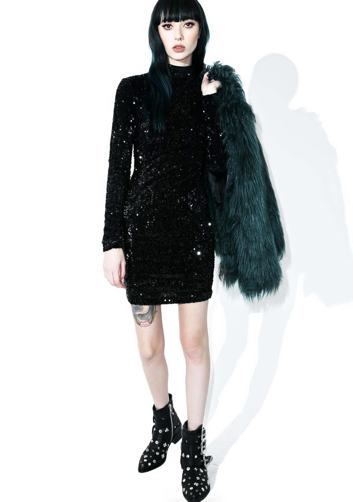 Night Flight Sequin Bodycon