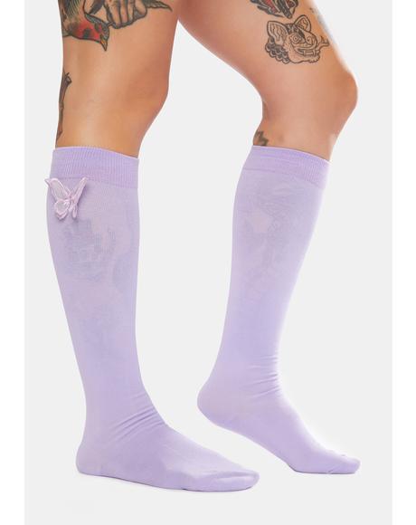 Iris Eyes Wide Open Knee High Socks
