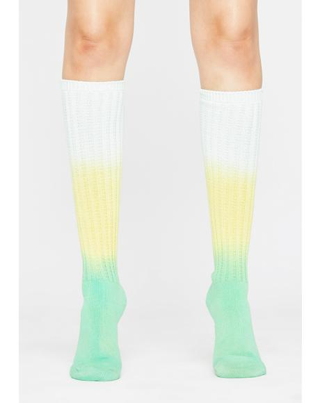 Kiwi Sugar Dose Knee High Socks