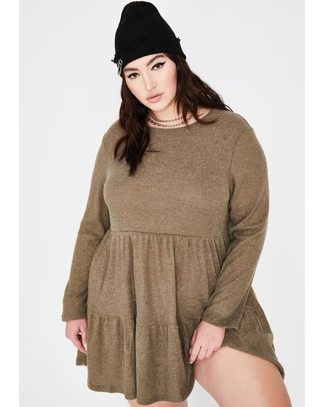 Yes Chai Latte Babydoll Dress