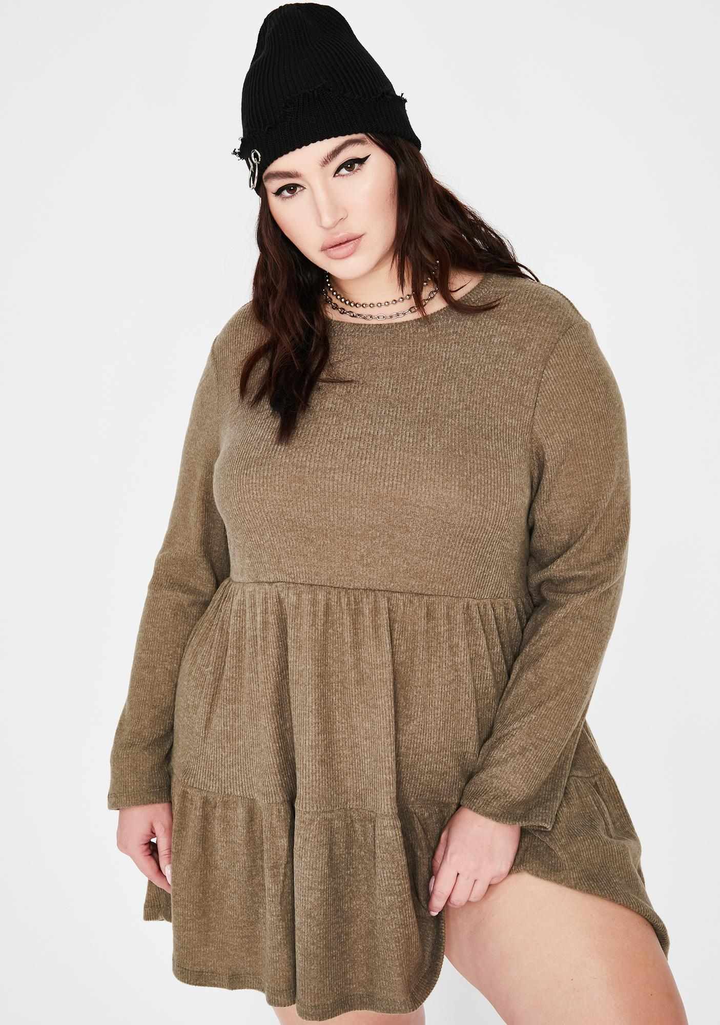 Yes Chai Latte Babydoll Dress