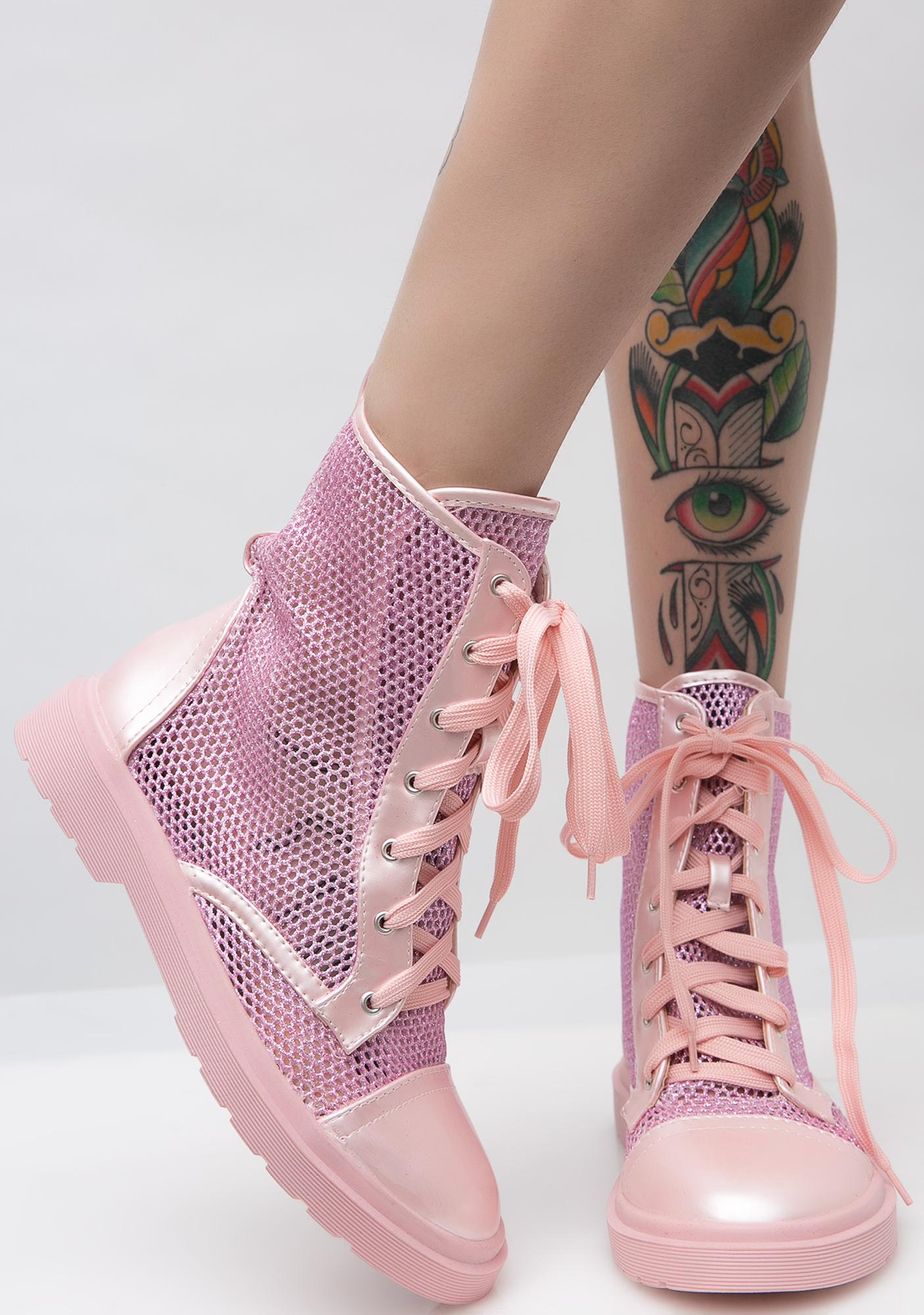 Blush Get To Steppin' Combat Boots