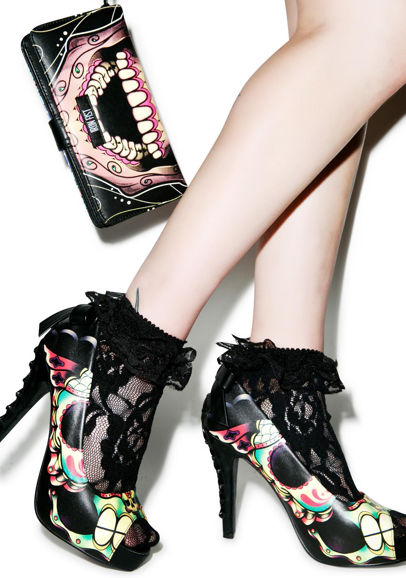 Iron Fist Dearly Departed Peep Toe Platform Heels