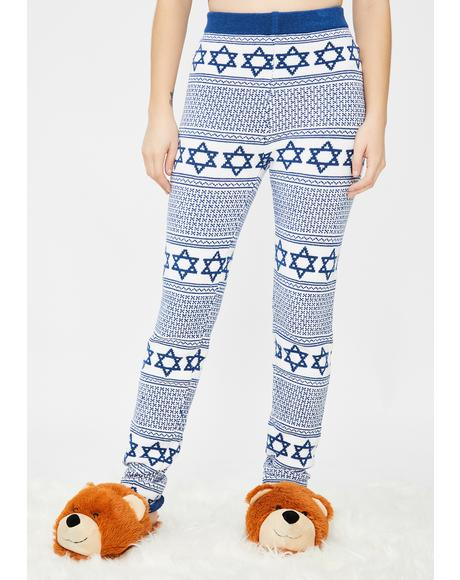 Hanukkah Knit Leggings