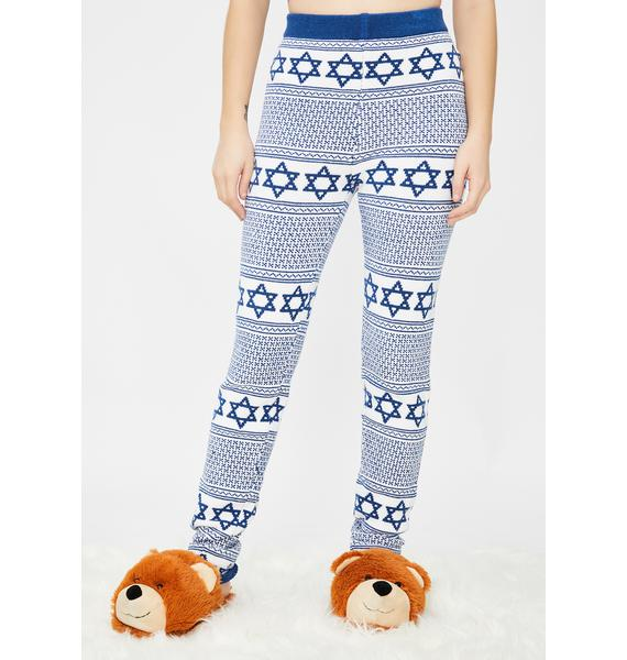 Knitty Kitty Hanukkah Knit Leggings