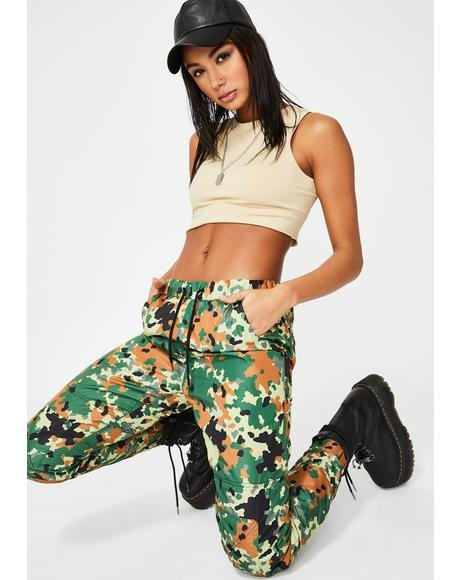 Forest Camo Outpost Windbreaker Pant