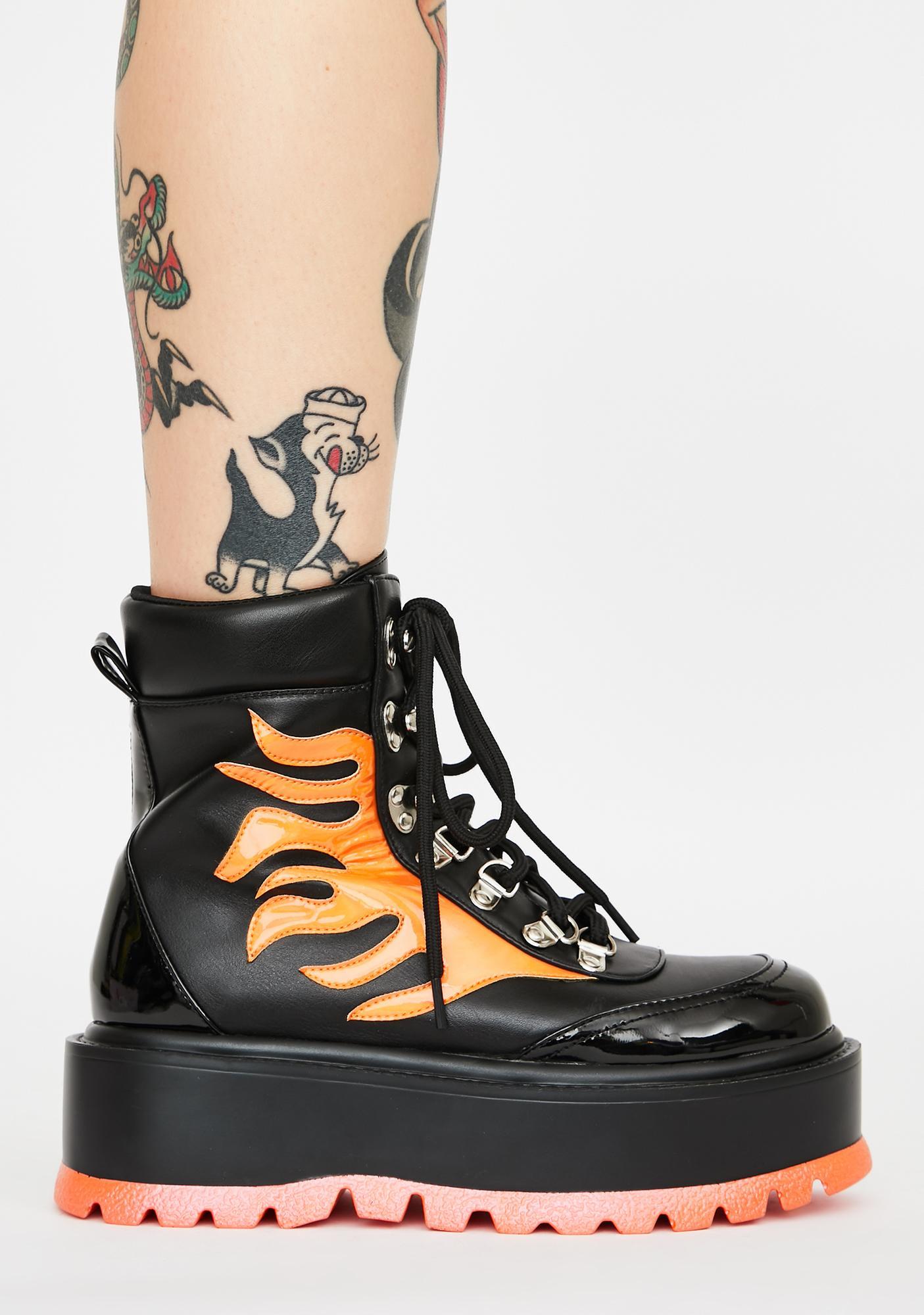 Koi Footwear Helios Flame Combat Boots