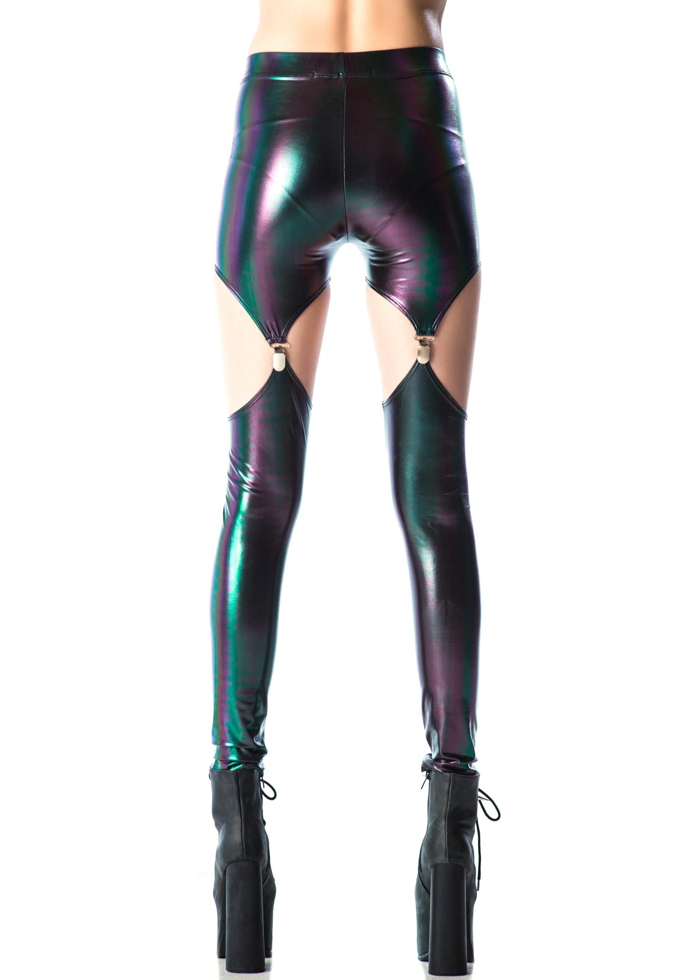 Lip Service Rainbow Slick Garter Leggings