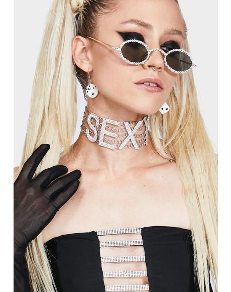 Say I'm Sexy Rhinestone Choker
