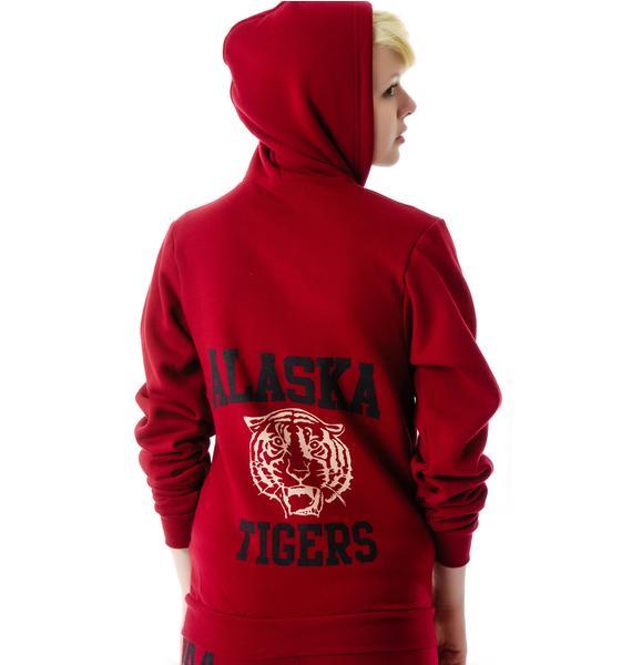 JET by John Eshaya Tiger Zip-Up Sweatshirt