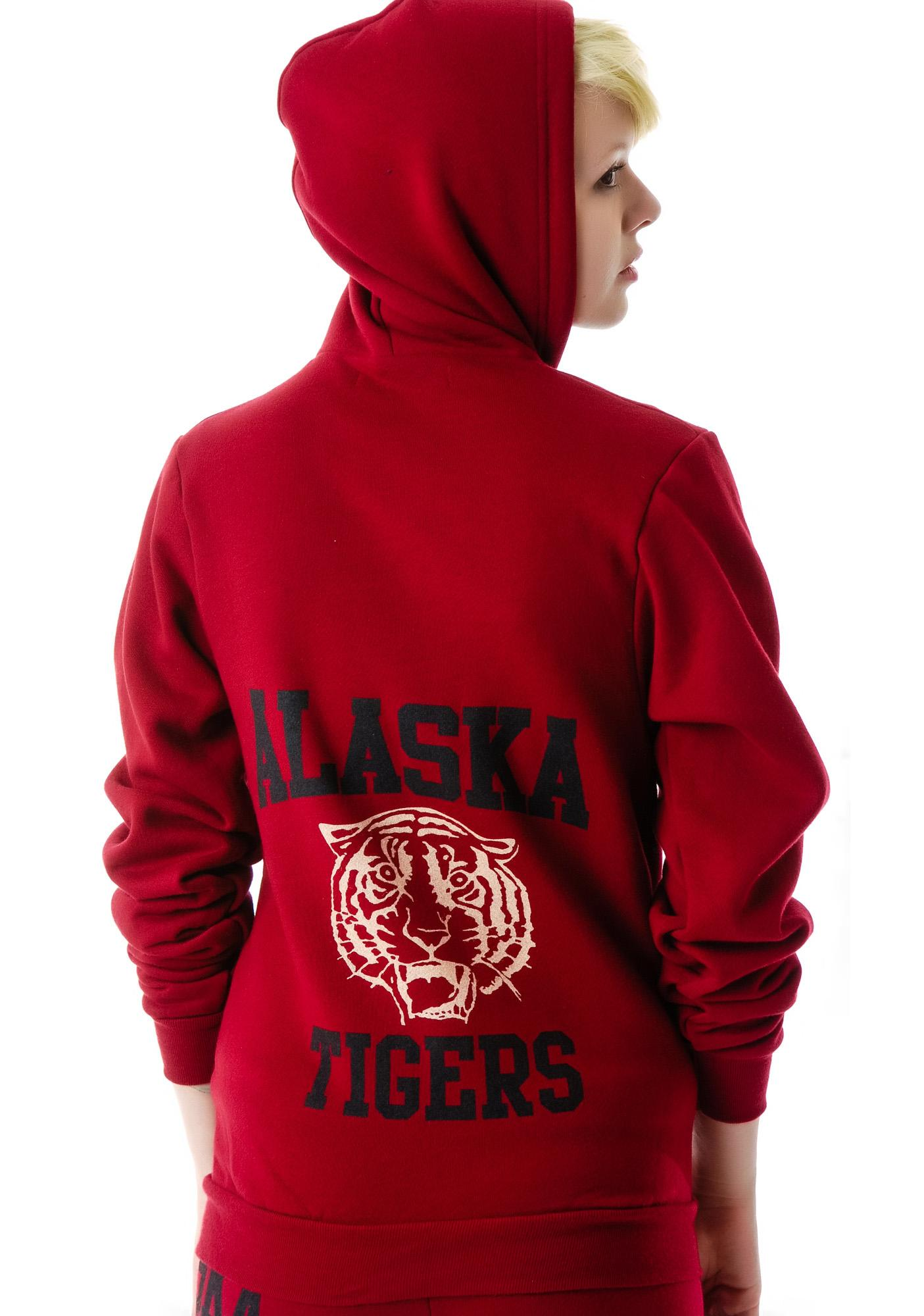 JET by John Eshaya Tiger Zip-Up Sweatshirt