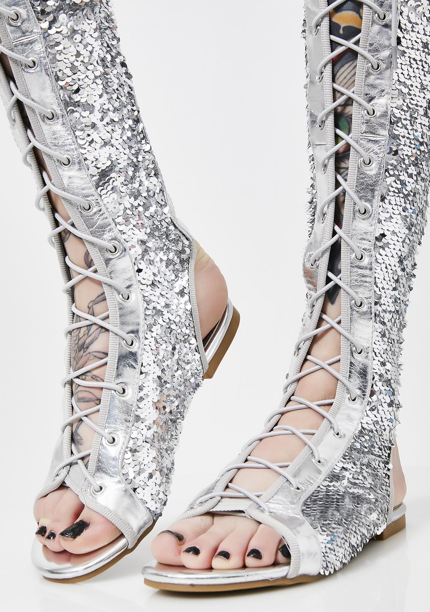 Glam Steps Sequin Sandals