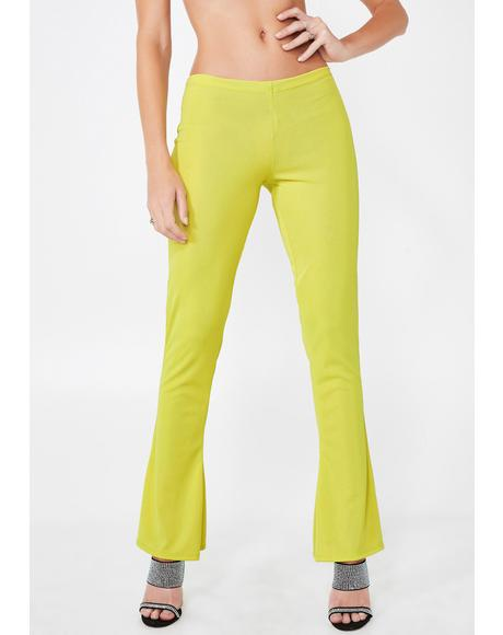 Neon Flare Pants