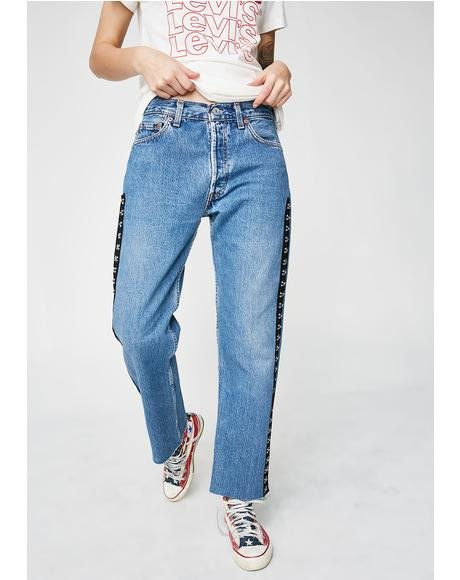 Hook And Eye Side Reworked Jeans