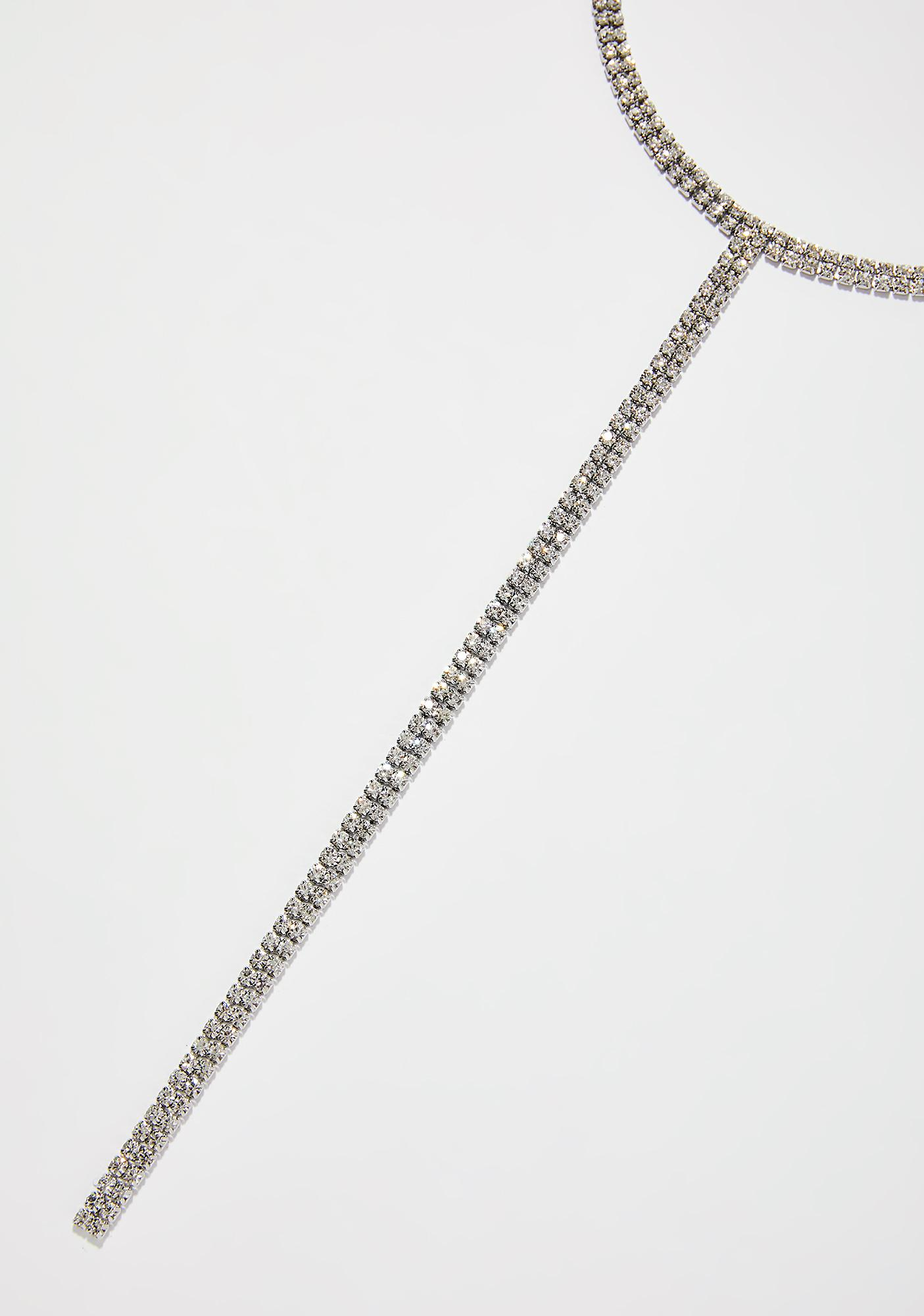 Cold As Ice Rhinestone Necklace