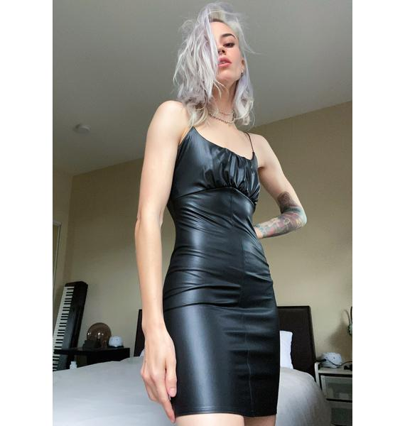 Lost In Ibiza Vegan Leather Dress