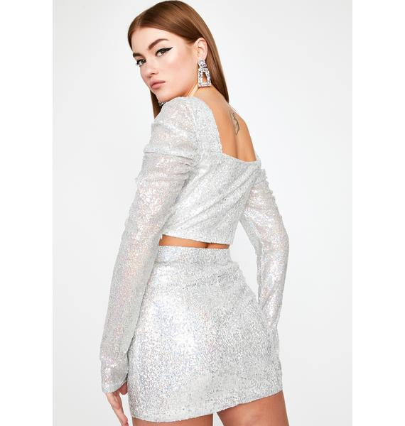 Lustrous Love Sequin Skirt