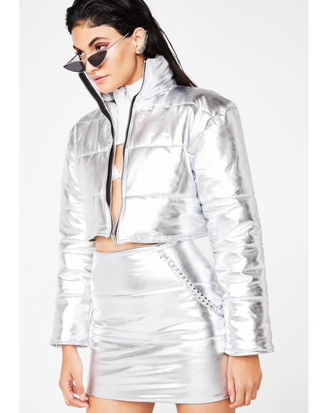 Platinum Bratitude Puffer Jacket