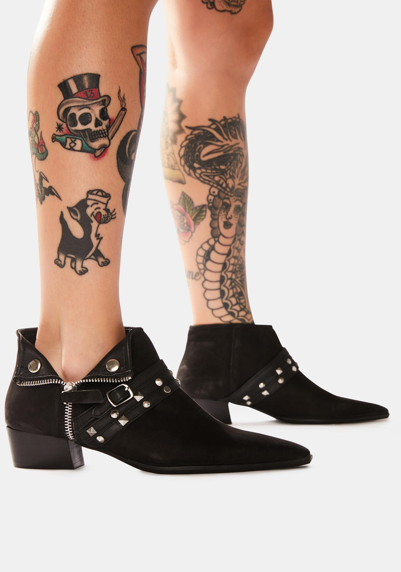 Free People Chesa Suede Low Ankle Boots