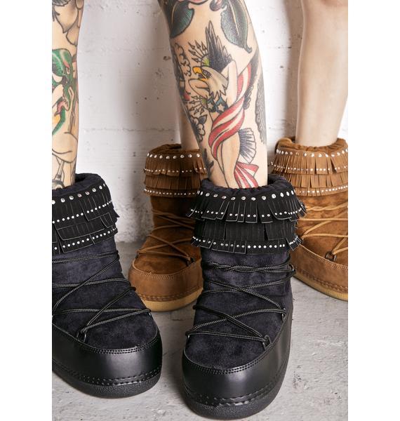 Dark Plutonic Moon Boots
