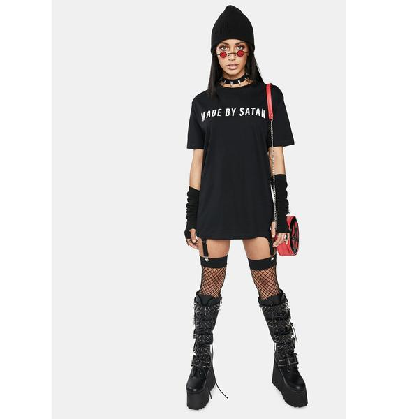 Long Clothing Made By Satan Graphic Tee