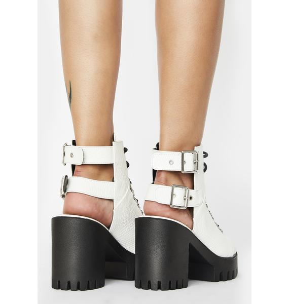 Public Desire Rockin' Peep Toe Ankle Boots