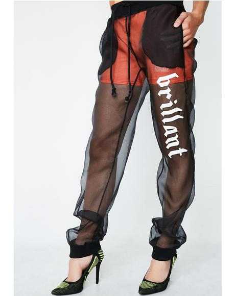 Brilliant Silk Joggers