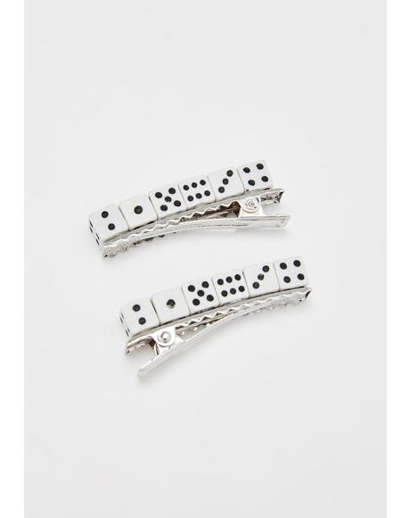 Roll The Dice Hair Pins