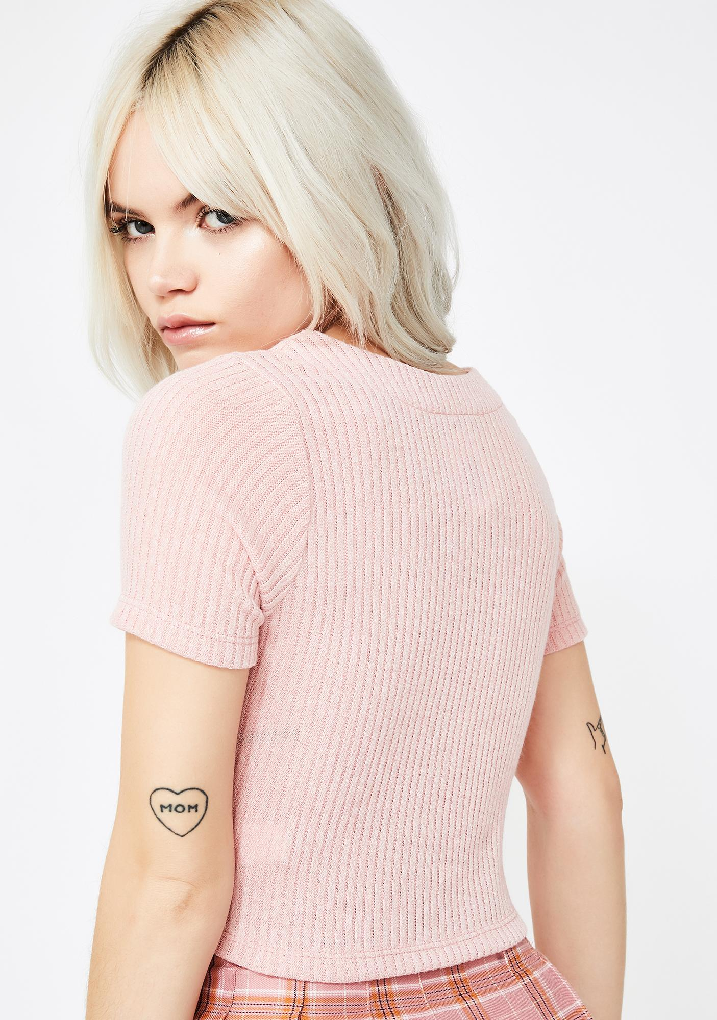 Sweet Life Crop Sweater Top
