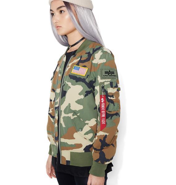 Alpha Industries L-2B Flex Camo Flight Jacket