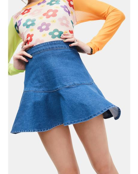 Can't Be Fooled Denim Skirt
