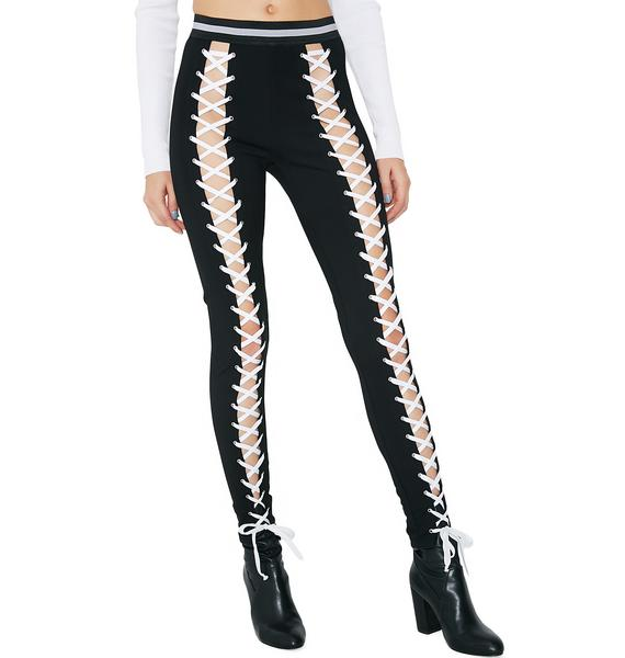 Current Mood Settle The Score Lace-Up Leggings
