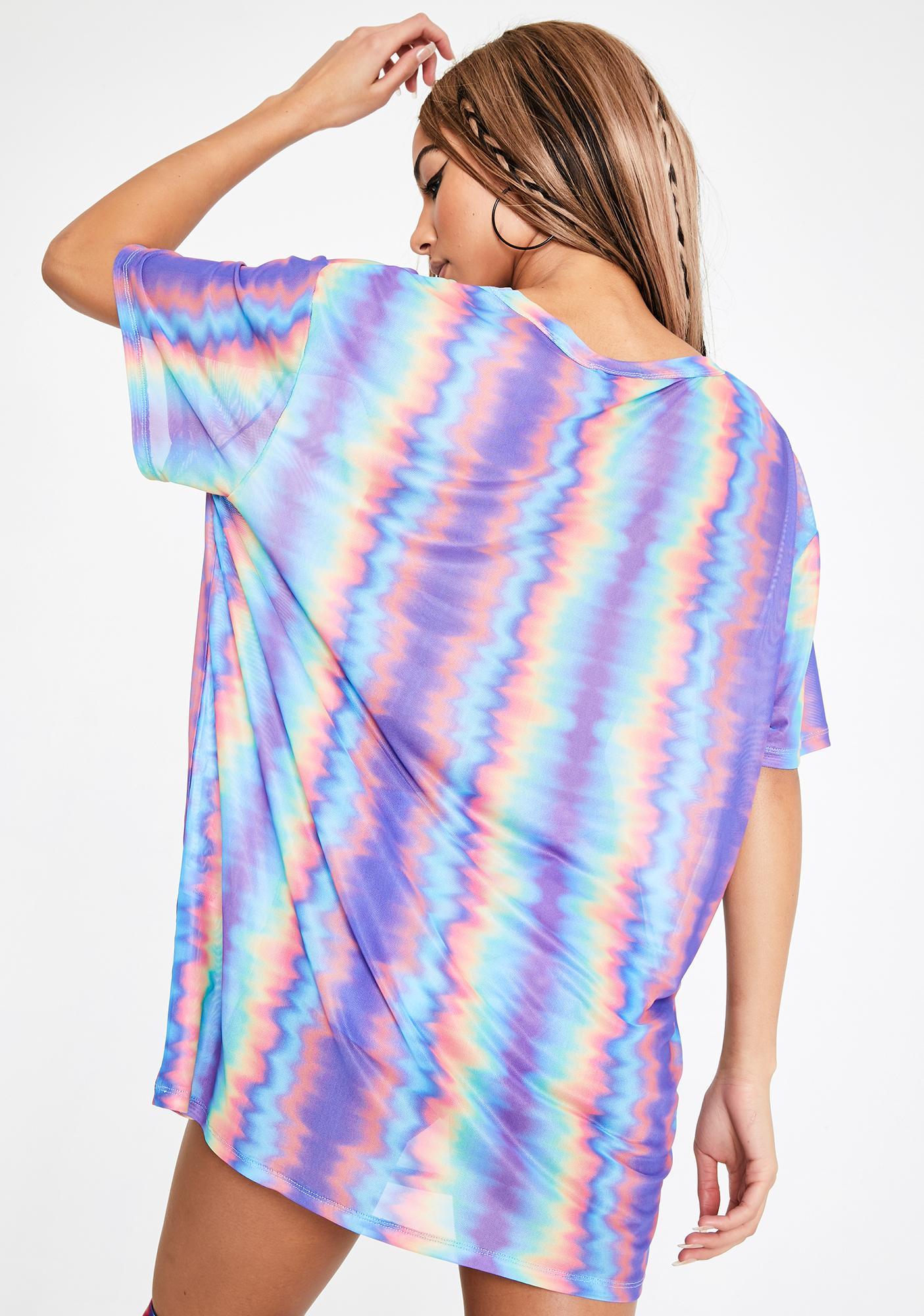 Club Exx Hypnotic Mist Mesh Tee Dress