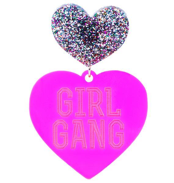 Haus of Dizzy Hottie Girl Gang Earrings