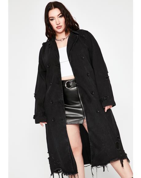 Mz. Forever Heartbreaker Distressed Coat